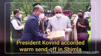 President Kovind accorded warm send-off in Shimla