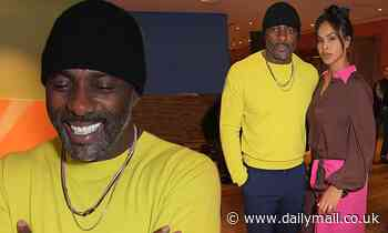 Idris Elba shows off his age-defying good looks alongside wife Sabrina at London Fashion Week