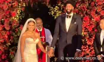 NBA star Anthony Davis marries partner Marlen P at ceremony attended by star-studded guest list