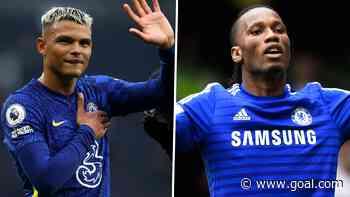 Thiago Silva next to Drogba in Chelsea's Premier League ranks