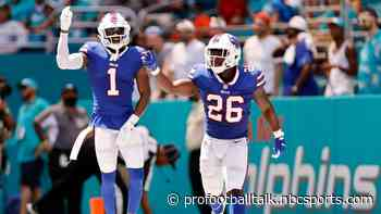 Bills hold 14-0 halftime lead over Dolphins
