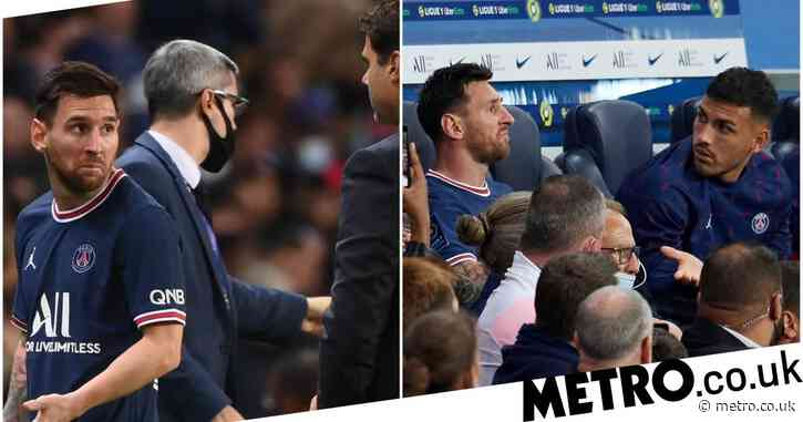 Lionel Messi left stunned after being substituted against Lyon with PSG chasing a winner