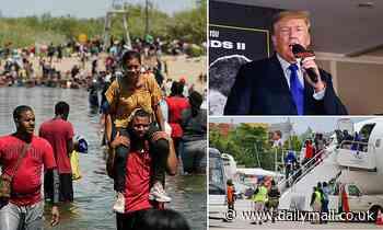 'America is rapidly becoming a cesspool of humanity': Trump condemns  Texas bridge border crisis