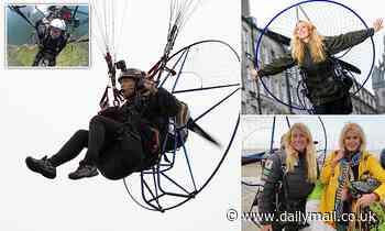 'Human swan' in horror crash: Paraglider seriously hurt in crash that kills colleague in record bid
