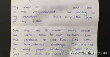 Handwritten letters blaming Satan for causing Covid pandemic are delivered to homes