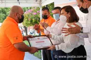 Cristina Díaz reconoce a elementos de protección civil de Guadalupe - POSTA
