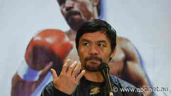 'I am a fighter': Boxer Manny Pacquiao seeks to become president of the Philippines