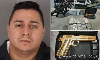 Cops seize two kilos of cocaine, a gold-plated handgun and nearly $44,000 in cash after traffic stop
