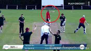 WATCH: Batsman throws bat at teammate, umpire holding pint in most 'village' cricket run out ever