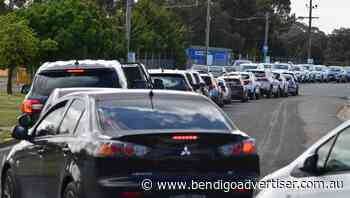 Long lines at Bendigo's coronavirus testing sites after exposure sites listing - Bendigo Advertiser
