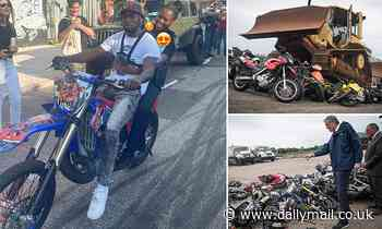 NYPD investigating cop seen in video riding on back of illegal dirt bike days after crackdown
