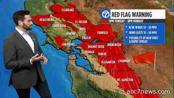 AccuWeather Forecast: Strong winds expected in North Bay Mountains, East Bay Hills - KGO-TV