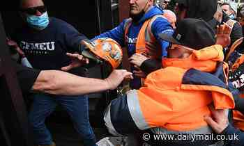 Covid-19 Australia: Melbourne construction workers protest over mandatory jabs