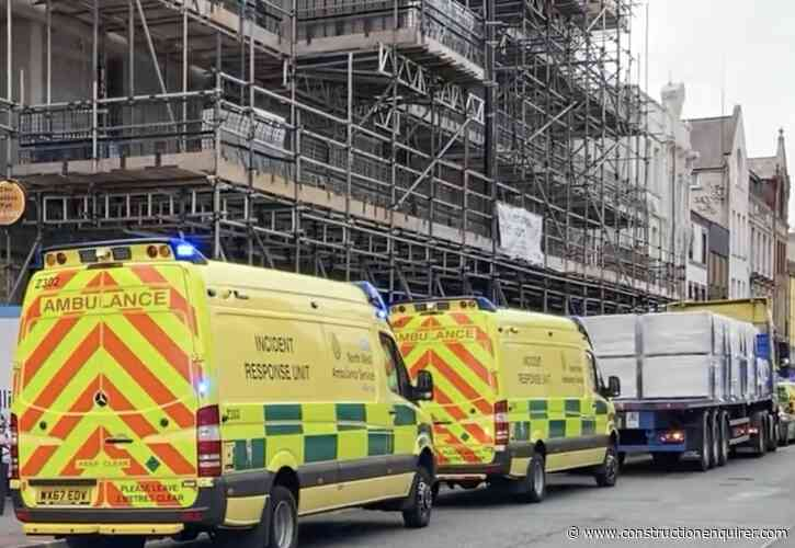 Manchester crane driver rescued after falling ill in cab