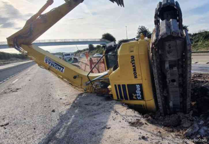 HSE shuts M6 job after excavator topples into trench
