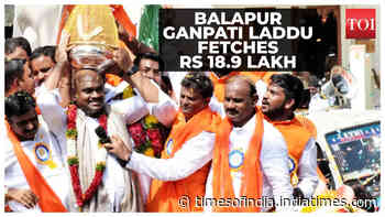 Balapur Ganpati laddu auction brings in Rs 18.9 lakh
