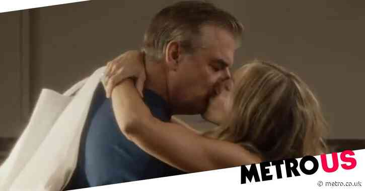 And Just Like That footage has finally arrived! Carrie and Mr Big smooch in first look at Sex and The City reboot