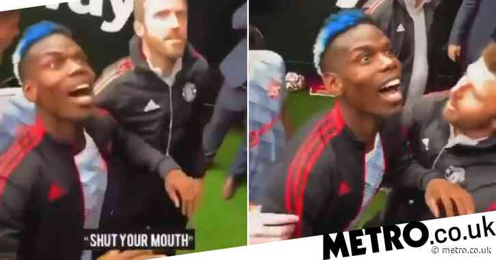 Paul Pogba dragged away by Michael Carrick as Manchester United star taunts West Ham fans