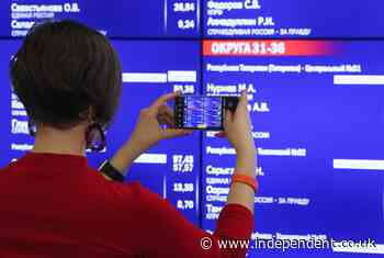 Russian election: United Russia on course for landslide victory as Communists contest vote
