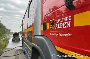 FW Alpen: Pkw in Vollbrand auf der A57 - Presseportal.de
