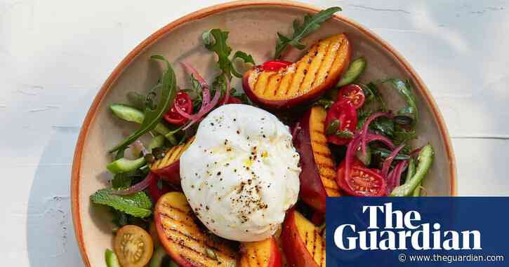 Thomasina Miers' recipe for grilled nectarine and burrata with pickled onions | The simple fix
