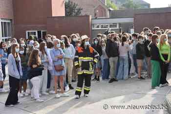 Brandweeroefening als afscheid van preventieadviseur Freddy Hertog