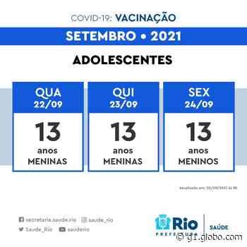 Rio retoma vacinação de adolescentes na quarta - G1
