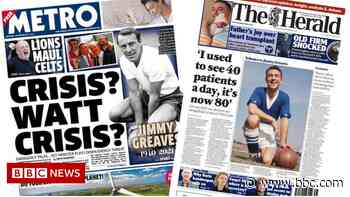 Scotland's papers: Energy crisis to hit bills and GPs 'struggling' - BBC News