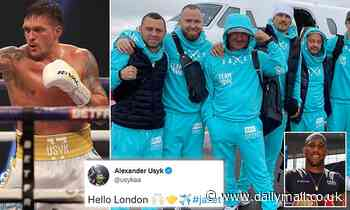 Oleksandr Usyk and his team arrive in London on private jet ahead of Anthony Joshua showdown
