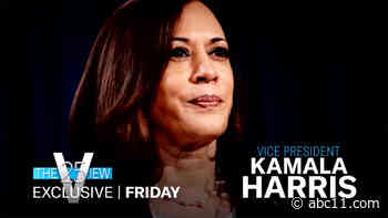 Vice President Kamala Harris to face panelists on 'The View' Friday