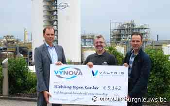 Tessenderlo: Vynova Belgium en Valtris schenken 5.142 euro aan Stichting tegen Kanker (20 september 2021) - Limburgnieuws.be