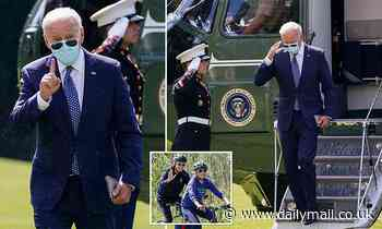 Biden back in DC after spending weekend biking in Delaware amid Haitian migrant crisis at border