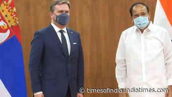 VP Naidu meets Serbian Foreign Minister in Delhi