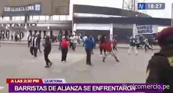 Alianza Lima: barristas del equipo victoriano se enfrentaron con piedras y bombardas frente a policías | VIDEO - El Comercio Perú