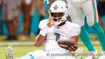 Brian Flores: Tua Tagovailoa is day-to-day with injured ribs