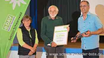 Tourenwart mit Leib und Seele - Fritz Weißer aus St. Georgen zum Ehrenmitglied des DAV ernannt - Schwarzwälder Bote