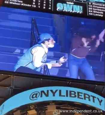 Fan has proposal rejected on jumbotron at WNBA game