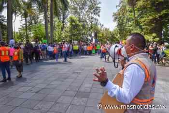 Participan trabajadores de Ayuntamiento de Xalapa en simulacro nacional - MÁSNOTICIAS
