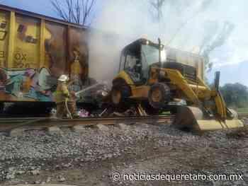 Atienden incendio de vagón en la estación Bernal - Noticias de Querétaro