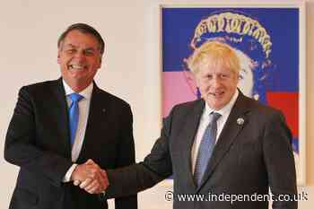 Boris Johnson tells vaccine-sceptic Brazilian president Bolsonaro to get jabbed