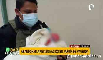 Huaura: abandonan a bebé recién nacido en jardín de una vivienda - Panamericana Televisión