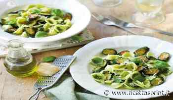 Orecchiette al pesto di nocciole zucchine noci e pancetta   delizioso - RicettaSprint