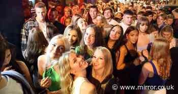 Students party in the streets to celebrate Freshers' Week as universities return