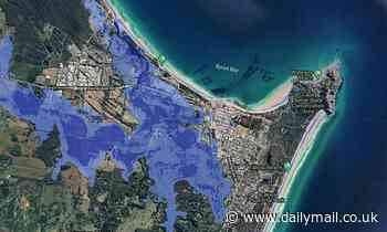 Worrying maps shows Australia's seaside escapes could be washed away if sea levels continue to rise