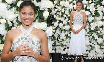 Emma Raducanu, 18, wows in a white outfit as she attendsLondon Fashion Week event