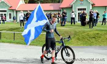 Cyclist Josh Quigley sets new seven-day cycling record of 2179 miles in Aberdeenshire - Press and Journal