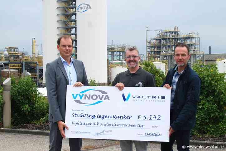Vynova Belgium en Valtris zamelen meer dan 5.000 euro in voor Stichting tegen Kanker