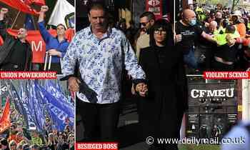 Melbourne Covid vaccine protests: CFMEU is Australia's most militant union