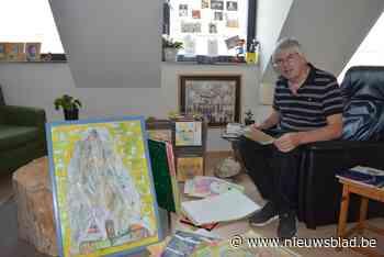 """Vier jaar geleden beginnen schilderen, nu stelt Johan (67) tentoon: """"Wat ik niet onder woorden krijg, krijg ik wel overgebracht via beeld"""" - Het Nieuwsblad"""