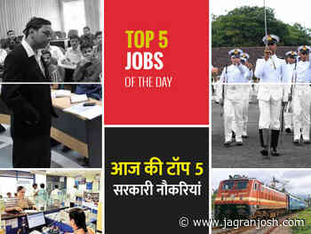 Top 5 Govt Jobs of the Day - 20 Sept - Big Opportunity in Indian Army, Income Tax Dept, MPPSC, CG Police and Others - Jagran Josh